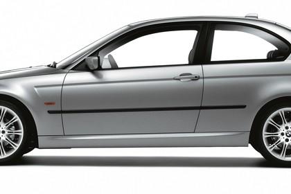 BMW 3er Compact E46 Aussenansicht Seite statisch Studio silber