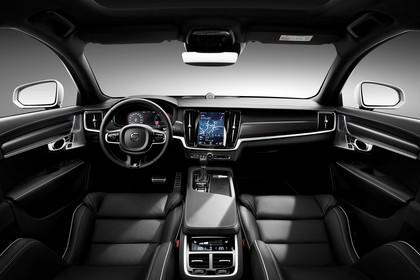 Volvo S90 R-Design Innenansicht statisch Studio Vordersitze und Armaturenbrett