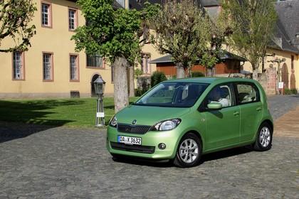 Skoda Citigo AA Front schräg statisch grün