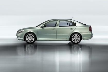 Skoda Ocavia 1Z Facelift Aussenansicht Seite Studio statisch hellgrün