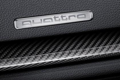 Audi RS3 Innenansicht Detail Logo und Kohlefaser statisch schwarz