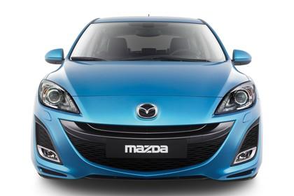 Mazda 3 Fünftürer BL Studio Aussenansicht Front statisch blau