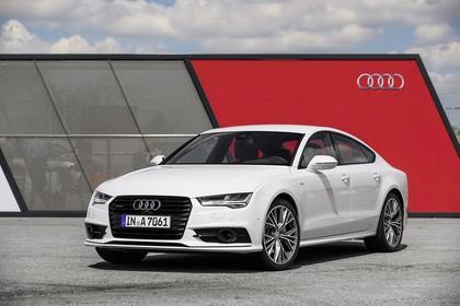 Audi A7 4G Aussenansicht Front schräg statisch wei8ss