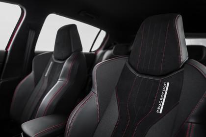 Peugeot 308 GTi T9 Innenansicht statisch Studio Detail Vordersitze