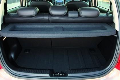 Hyundai i10 Innenansicht Kofferraum statisch schwarz