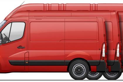 Opel Movano Kastenwagen Aussenansicht Seite statisch Studio rot