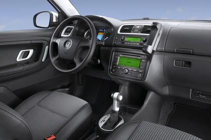 Skoda Fabia 5J Combi Innenansicht Beifahrerposition Studio statisch grau