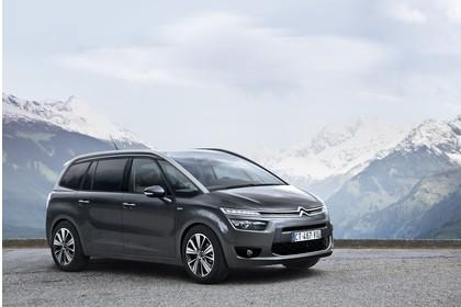 Citroën Grand C4 Picasso 2 Aussenansicht Front schräg statisch grau