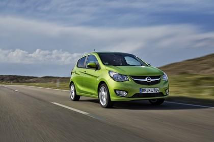Opel Karl Aussenansicht Front schräg dynamisch grün