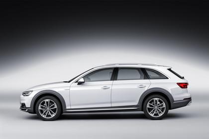 Audi A4 allroad quattro Aussenansicht Seite Studio statisch weiss