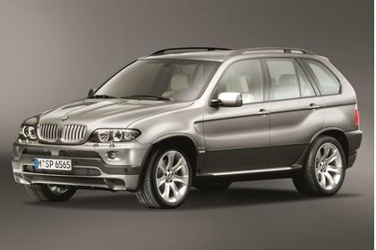 BMW X5 E53 Aussenansicht Front schräg statisch Studio braun