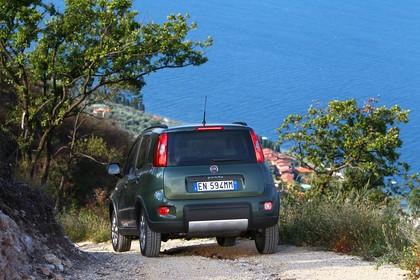 Fiat Panda 4x4 319 Aussenansicht Heck schräg statisch grün