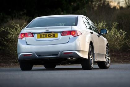 Honda Accord Limousine 8 Facelift Aussenansicht Heck schräg statisch silber