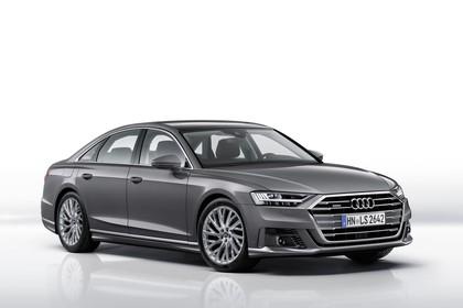 Audi A8 4N Aussenansicht Front schräg statisch Studio grau