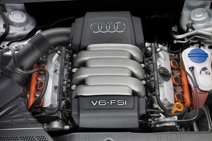 Audi A5 Coupe Facelift Innenansicht Detail Motorraum statisch schwarz