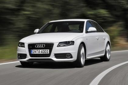 Audi A4 B8 Aussenansicht Front schräg dynamisch weiss