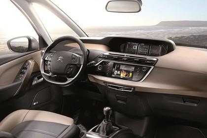 Citroën Grand C4 Picasso 2 Innenansicht statisch Vordersitze und Armaturenbrett beifahrerseitig