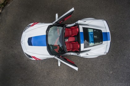 Chevrolet Corvette Grand Sport Cabrio Aussenansicht Draufsicht weiss