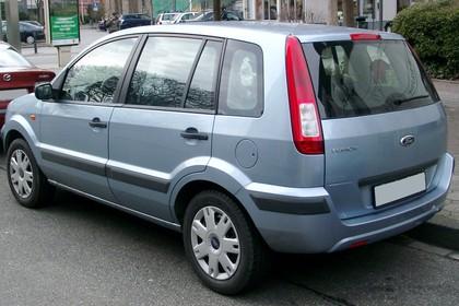 Ford Fusion Aussenansicht Heck schräg statisch hellblau