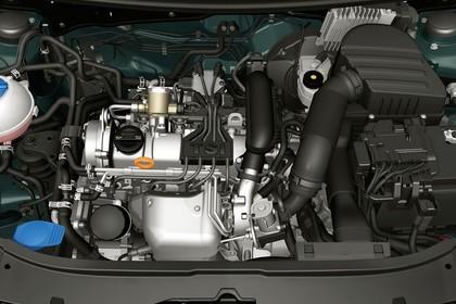 Skoda Fabia 5J Facelift Aussenansicht Detail Motorraum statisch schwarz