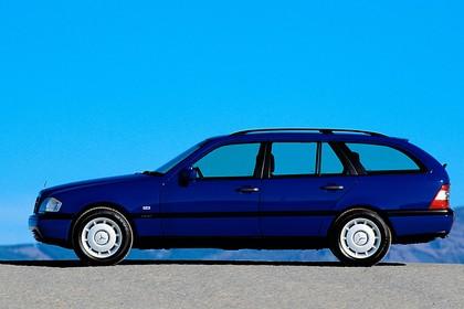 Mercedes-Benz C-Klasse T-Modell S202 Aussenansicht Seite statisch dunkelblau