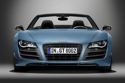 Audi R8 Aussenansicht Front Studio statisch blau