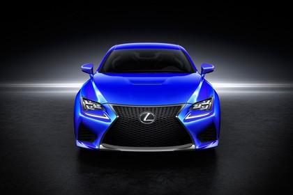 Lexus RC F X10 Aussenansicht Front statisch Studio blau