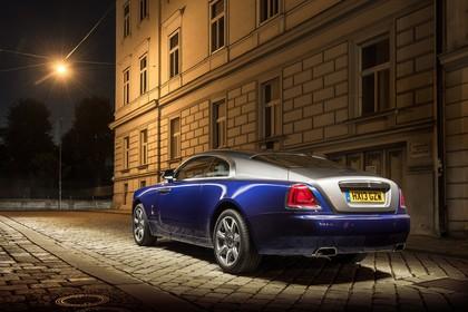 Rolls-Royce Wraith Aussenansicht Heck schräg statisch blau