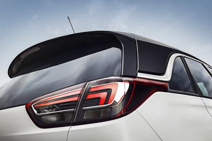 Opel Crossland X C Aussenansicht Heck schräg statisch Detail Rückleuchte rechts