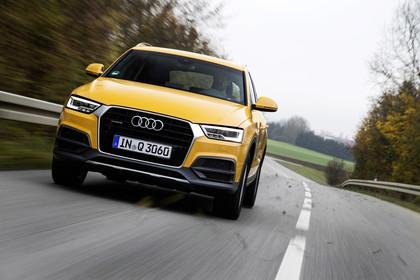 Audi Q3 Aussenansicht Front dynamisch gelb