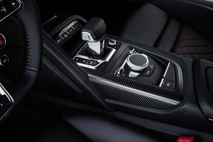 Audi R8 Coupe Innenansicht Detail Mittelkonsole statisch schwarz