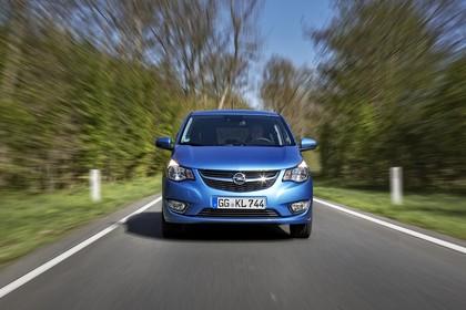 Opel Karl Aussenansicht Front  dynamisch blau