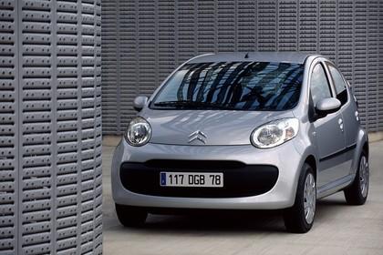 Citroën C1 Fünftürer P Aussenansicht Front schräg statisch silber