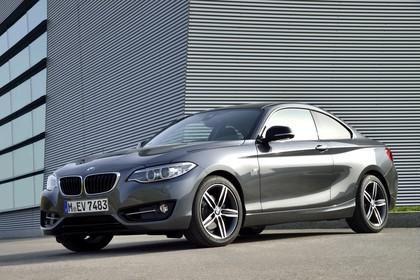 BMW 2er Coupe F22 Aussenansicht Front schräg statisch grau