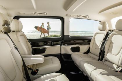 Mercedes V-Klasse 447 Innenansicht Rücksitze statisch beige