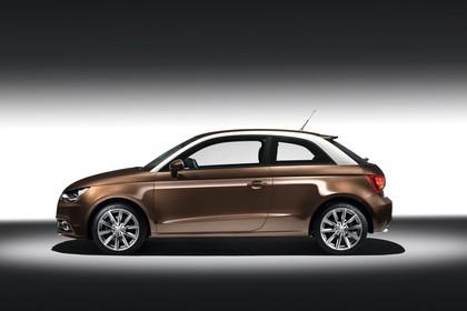 Audi A1 Aussenansicht Seite Studio statisch braun
