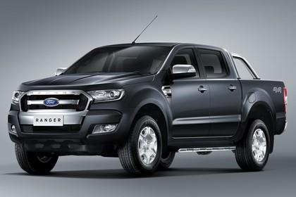 Ford Ranger 2AB Aussenansicht Front schräg statisch Studio grau