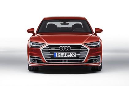 Audi A8 4N Aussenansicht Front statisch Studio rot