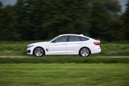 BMW 3er GT F34 Aussenansicht Seite dynamisch weiss