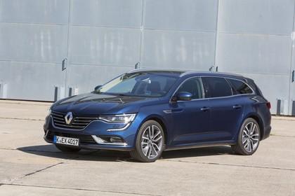 Renault Talisman Grandtourer (RFD) Aussenansicht Front schräg statisch blau