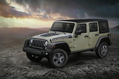 Jeep Wrangler Unlimited JK Aussenansicht Front schräg statisch beige
