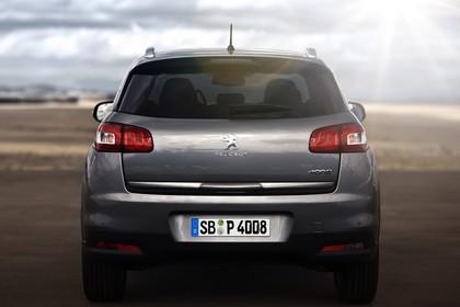 Peugeot 4008 B Aussenansicht Heck statisch grau