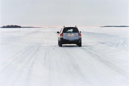 Volvo XC90 Aussenansicht Heck dynamisch silber