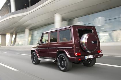 Mercedes-Benz G-Klasse W463 Aussenansicht Heck schräg dynamisch rot