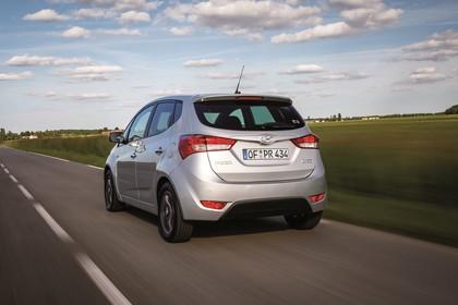 Hyundai ix20 Aussenansicht Heck schräg dynamisch silber