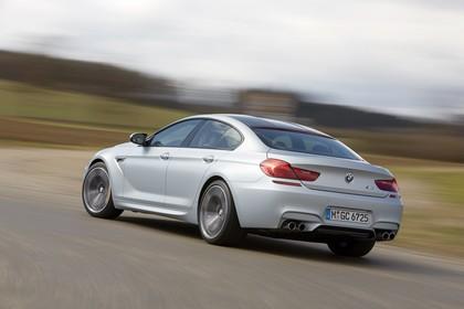BMW M6 Gran Coupé F06 Aussenansicht Heck schräg dynamisch silber