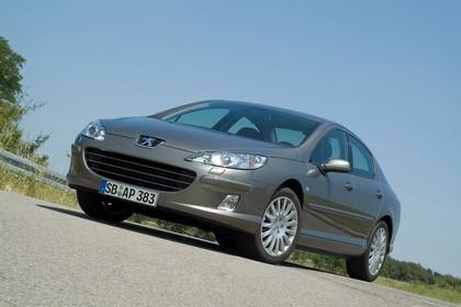 Peugeot 407 6 Limousine Aussenansicht Front schräg statisch grau