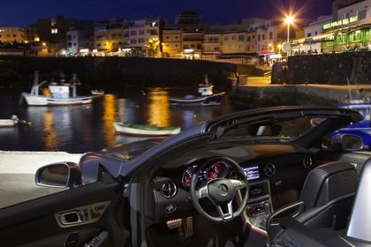 Mercedes SLC R172 Innenansicht statisch silber schwarz