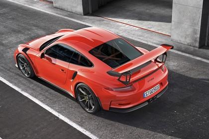 Porsche 911 GT3 RS 991.2 Aussenansicht Heck schräg statisch rot