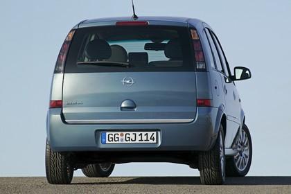 Opel Meriva A Aussenansicht Heck statisch blau
